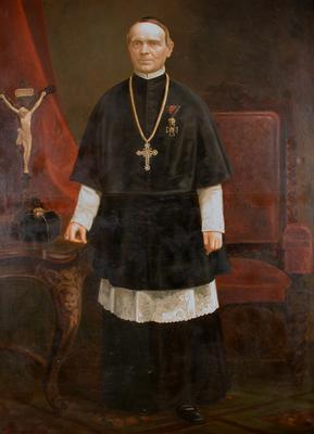 Kruesz Krizosztom pannonhalmi főapát portréja