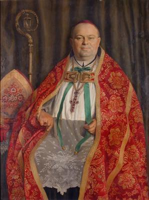 Bárdos Remig pannonhalmi főapát portréja
