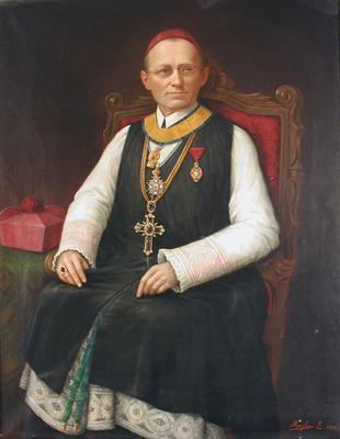 Fehér Ipoly pannonhalmi főapát portréja
