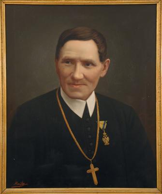 Hollósy Jusztinián celldömölki apát portréja