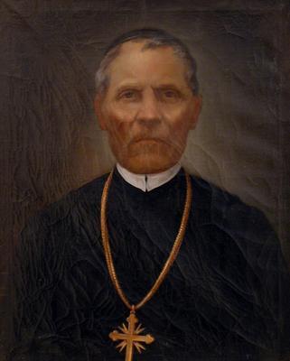 Gácser Leó celldömölki apát portréja