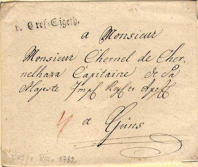 Bélyeg előtti levelek, 1782