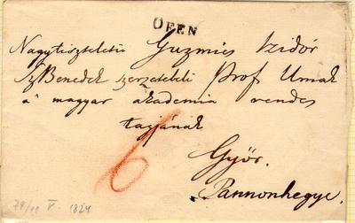 Bélyeg előtti levél, 1824