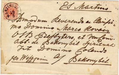 Levél, 1851 Martinsbergből (Pannonhalmáról)