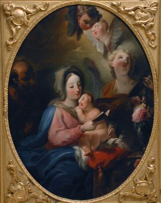 A Szent Család angyalokkal